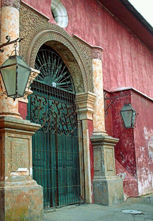 Common house during XIX century in Antigua Guatemala.