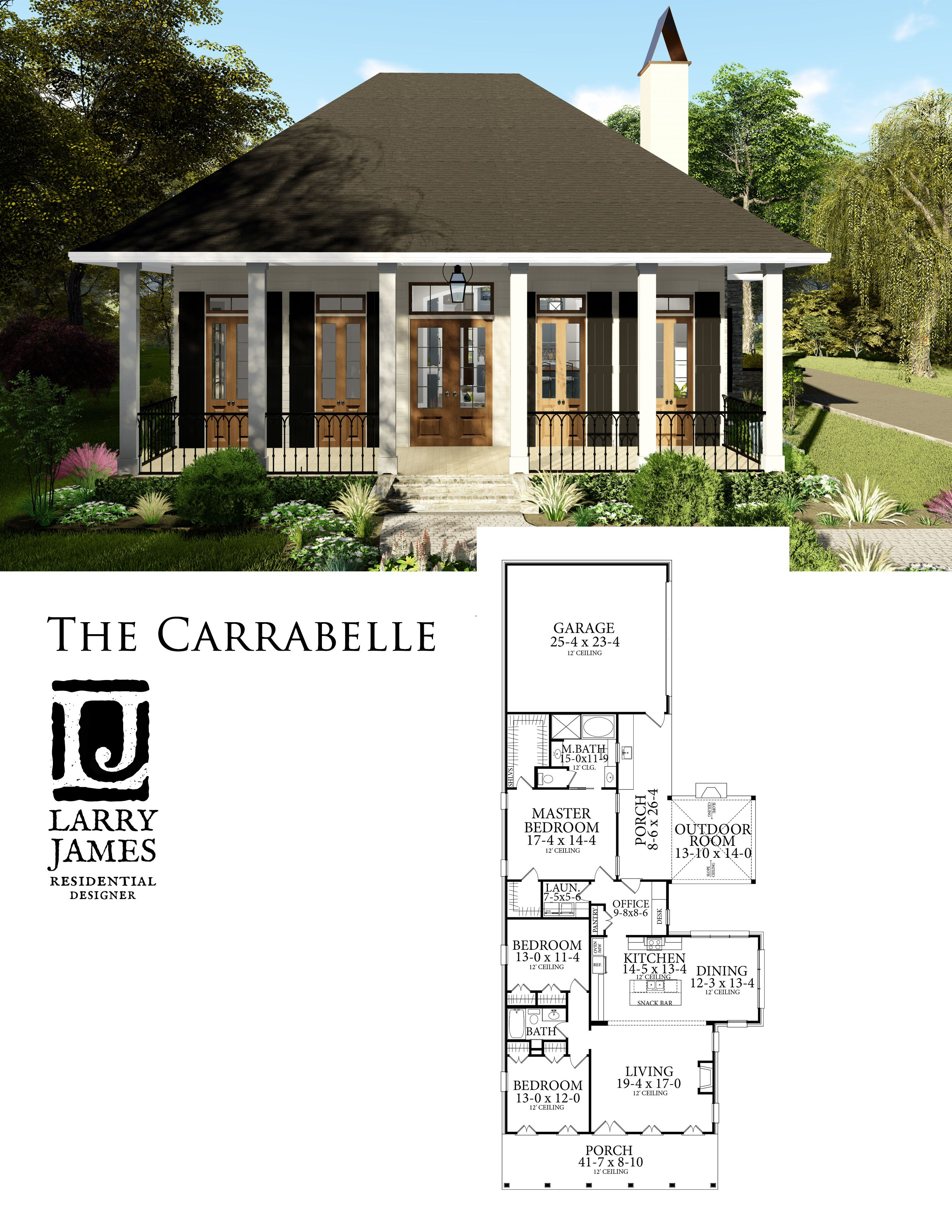 The Carrabelle 1799 Narrow Lot House Plans House Blueprints New House Plans