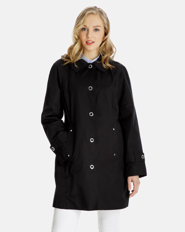 dd59e75009d Beth Snap-Front Raincoat for Women - Detachable Hood