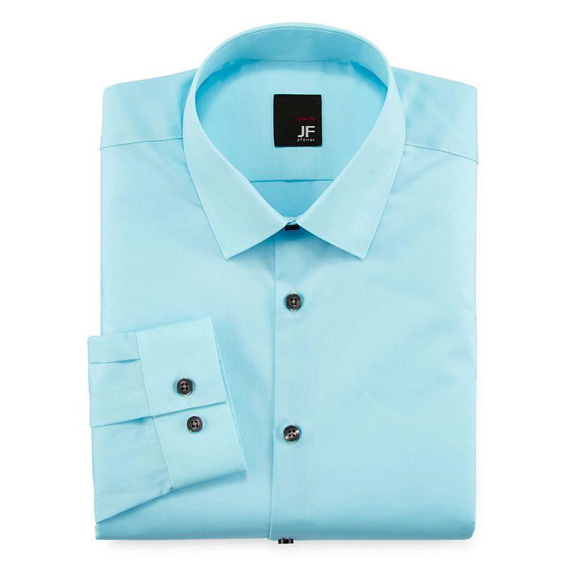 07c637a3360a0 JF J. Ferrar Slim-Fit Easy-Care Dress Shirt - Big   Tall