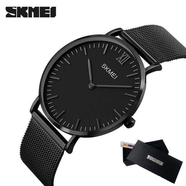 739a9d97db2 Special offer SKMEI New Top Luxury Watch Men Brand Men s Watches Ultra Thin  Stainless Steel Mesh Band Quartz Wristwatch Fashion casual watches just  only ...