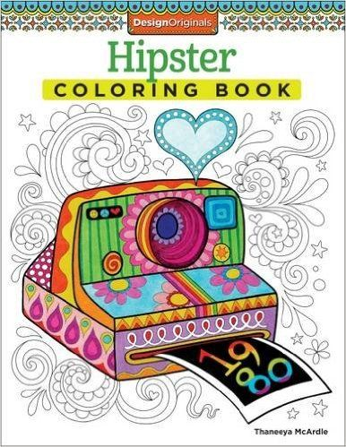 Hipster Coloring Book Design Originals Thaneeya McArdle 0023863054997 Amazon Books