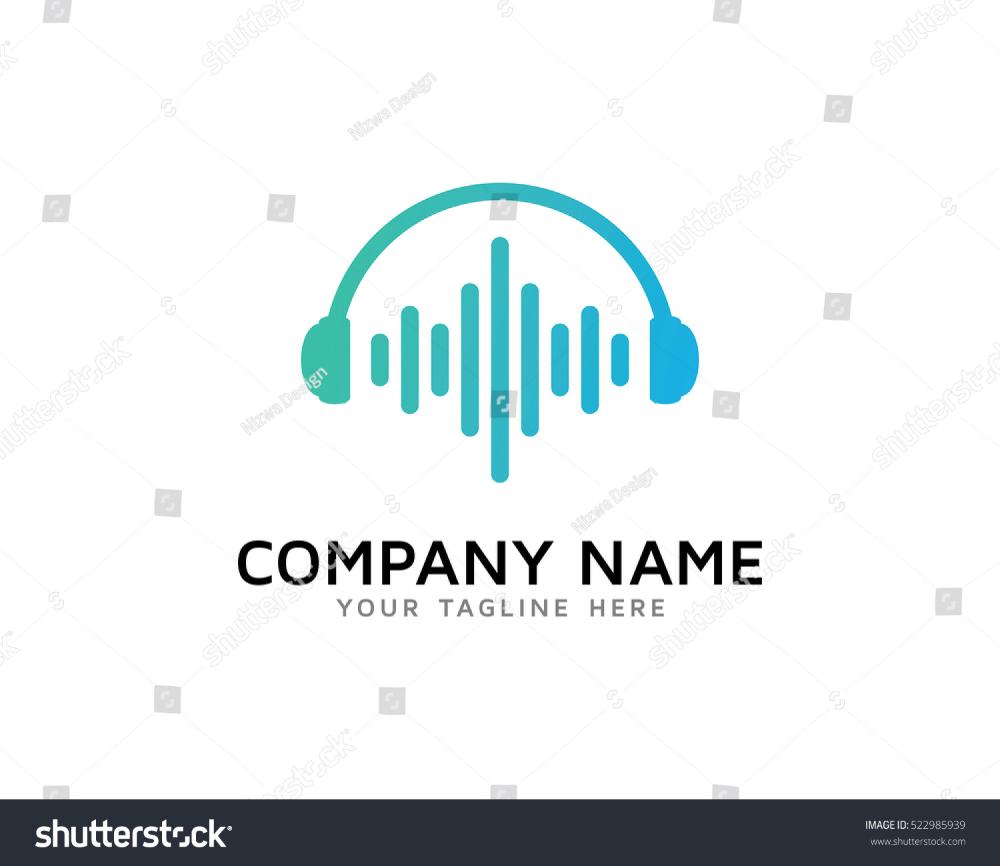 Sound Wave Logo Design Template Stock Vector Royalty Free 522985939 Logo Design Template Logo Design Waves Logo