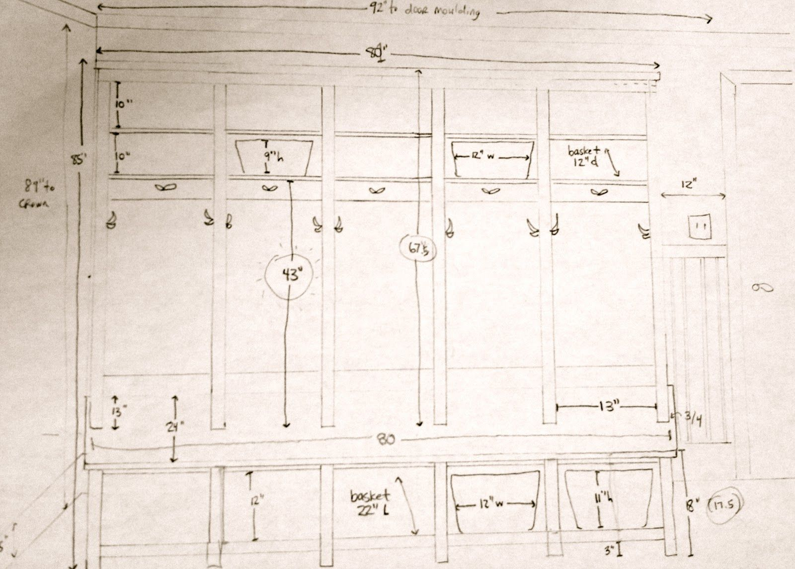 Diy Mudroom Cubbies Sketch Diy Locker Diy Mudroom Bench Plans Mudroom Lockers