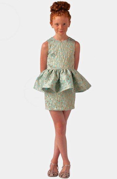 14++ Girls peplum dress information