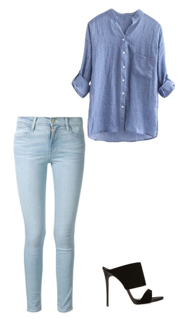 """""""Untitled #358"""" by lauramcbean ❤ liked on Polyvore featuring Frame Denim and Giuseppe Zanotti"""