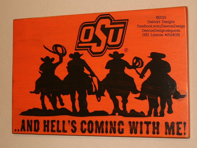 Cowboys Okc Christmas Party 2020 Oklahoma State University Sign OSU Cowboys Distressed Wood   Etsy