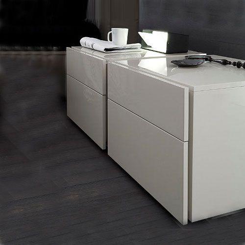 Modern Italian Start White Matrix Nightstand By Rossetto $433