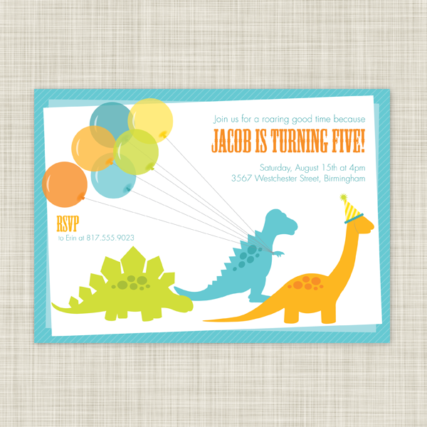 Dinosaur Invitations Free Printable 2017 | Birthday party ...