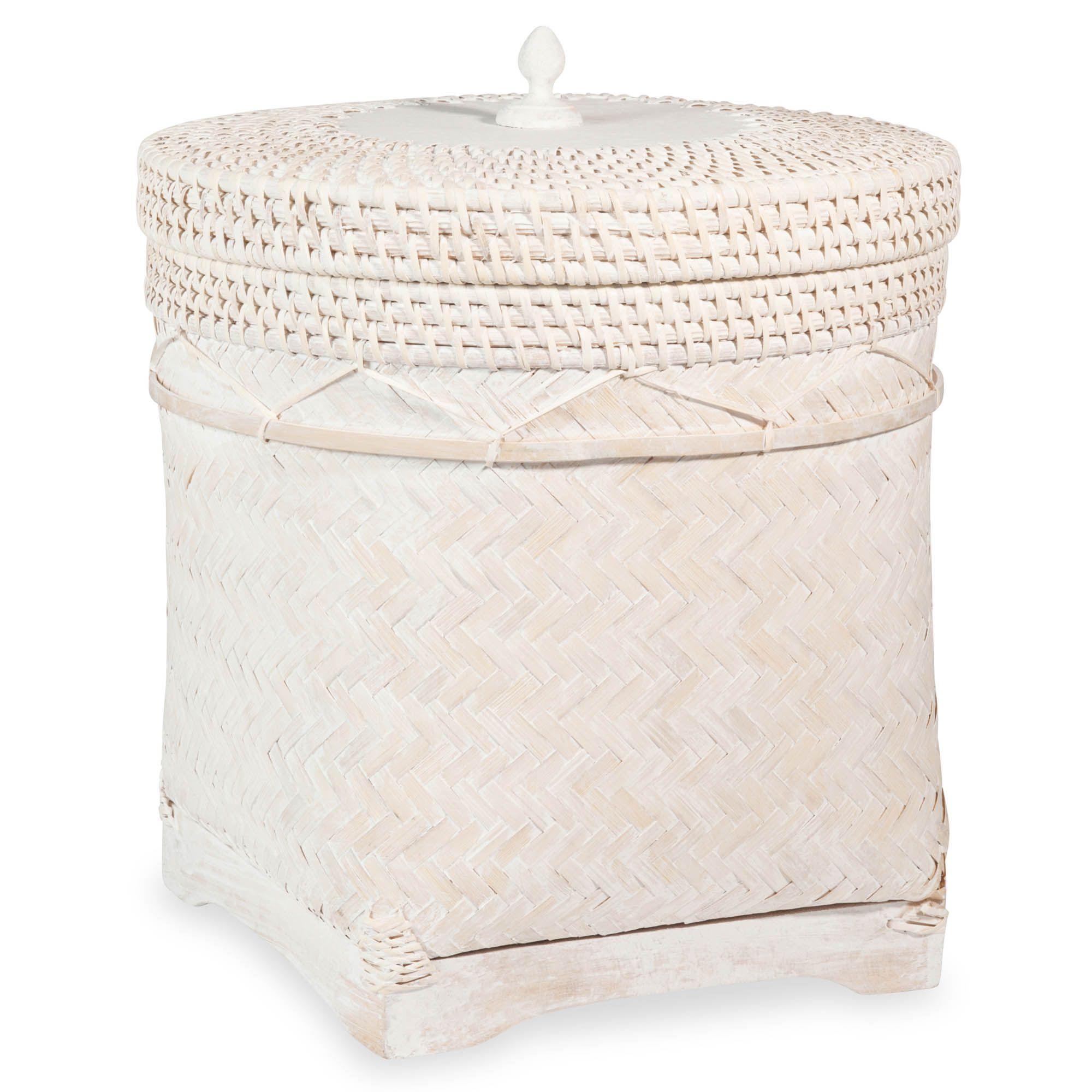 Boîte de rangement en bambou blanchi WHITE ISLAND | deco ...
