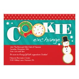 Holiday cookie exchange party invitation christmas cookie cookie exchange invitations for a holiday christmas cookie swap add your own text to these templates pronofoot35fo Choice Image