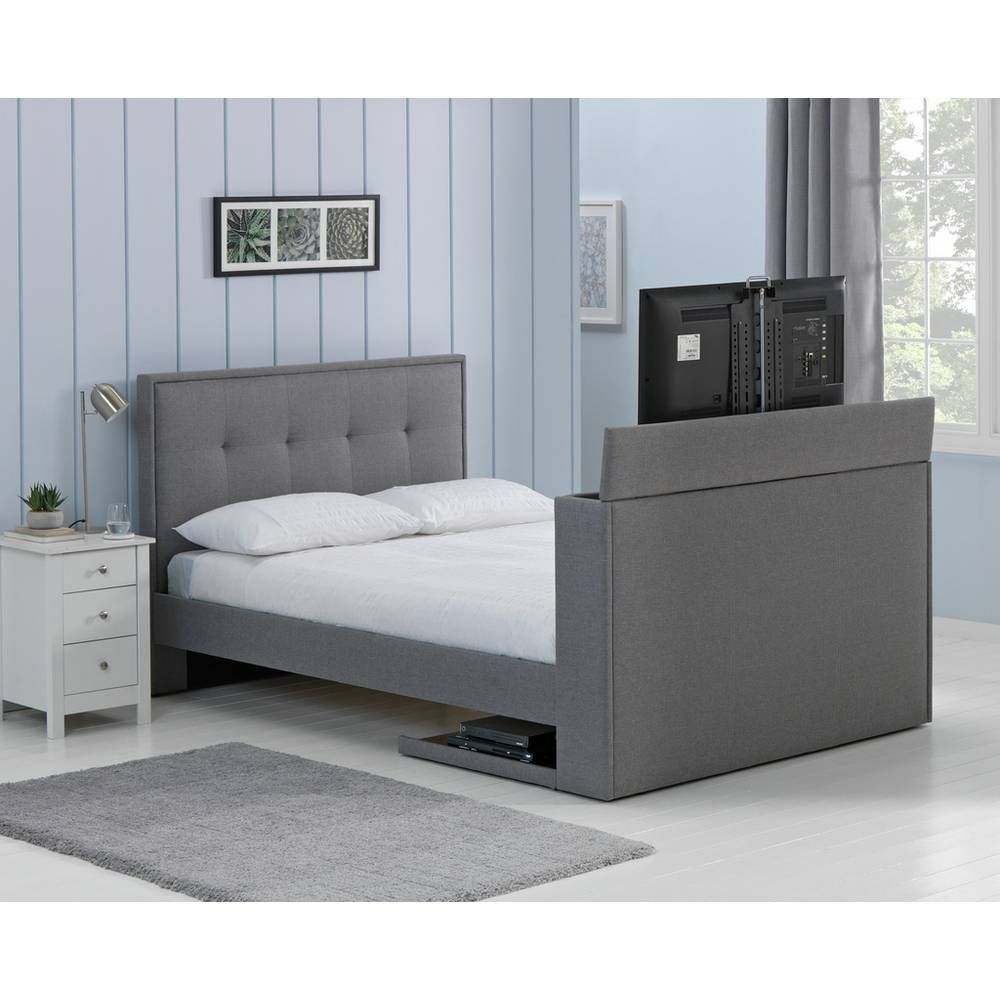 Buy Argos Home Forsyth Kingsize Tv Bed Frame Dove Grey Bed Frames Argos Grey Bed Frame Tv Bed Frame Bed Frame