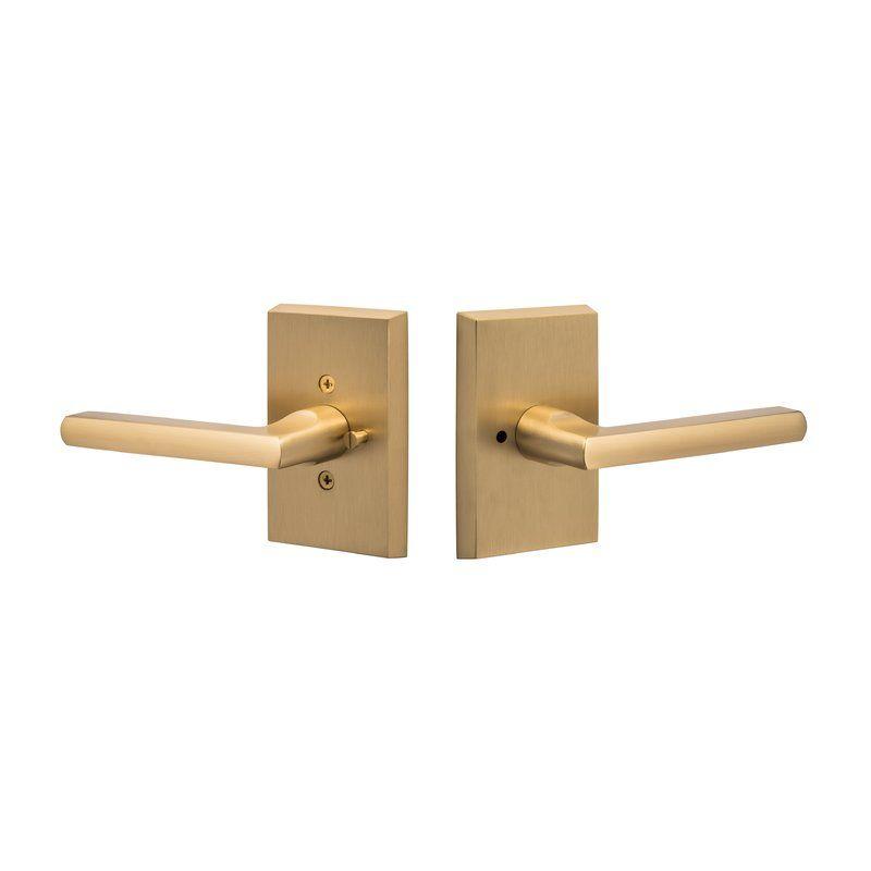 Contemporary Series Logan Privacy Door Lever Door Levers Door Handles Gold Door Handles