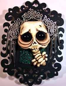 Queen of the Damned Gracie  skeleton Wall by CovingtonCreations, $62.00