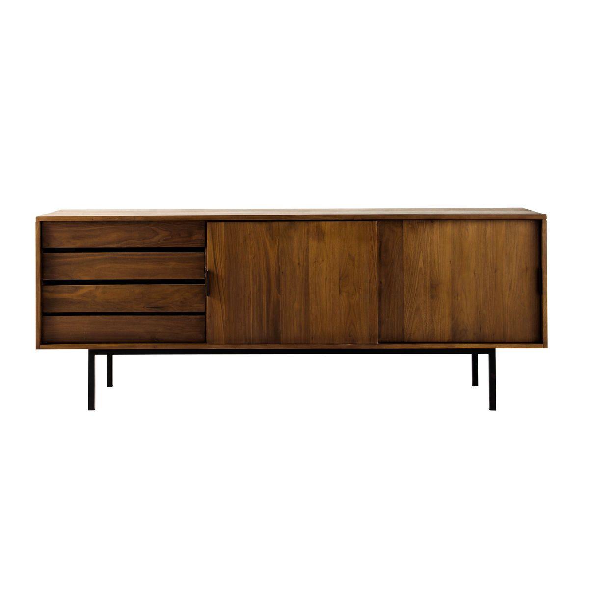 Einfaches wohnmöbel design anrichte aus massivem nussbaum  home ideas  pinterest  sideboard
