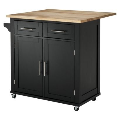 Superior Kitchen Island With Drop Leaf   Black $199 On Sale, Target (not Sold In