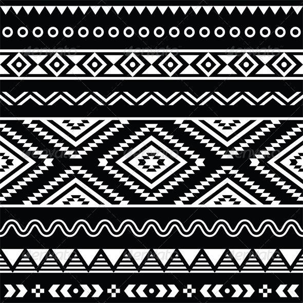 4a96eaa156d15 Folk Seamless Aztec Ornament Pattern - Backgrounds Decorative ...