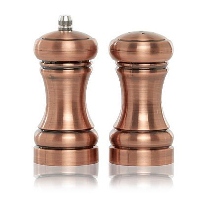 George Home Copper Effect Salt And Pepper Shakers Home