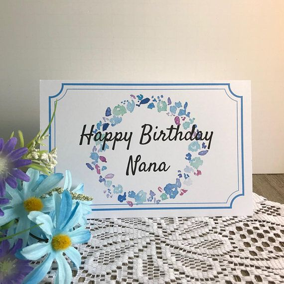 Printable Birthday Card For Nana Greeting Card For Grandmother
