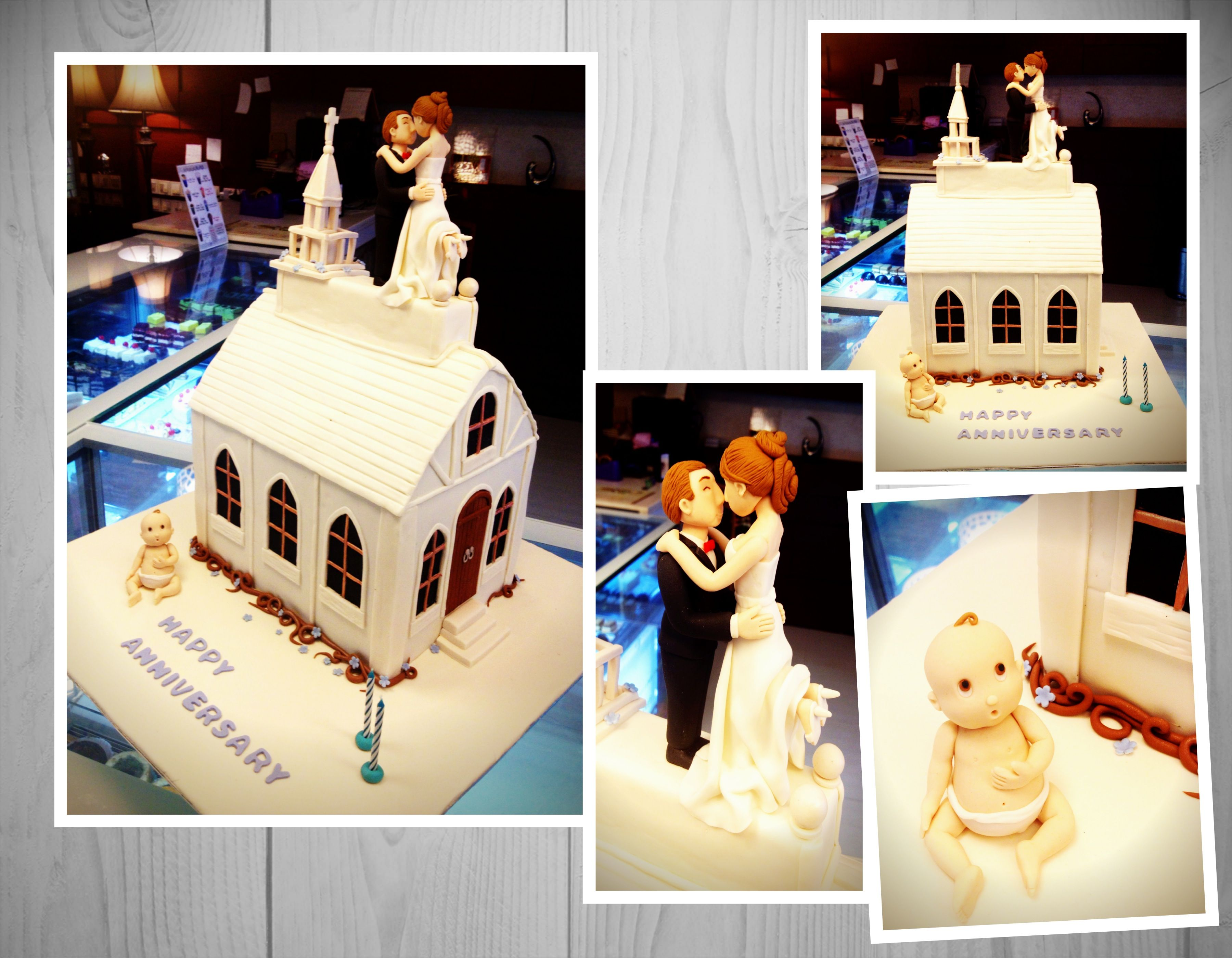 anniversary wedding cake (Dengan gambar)