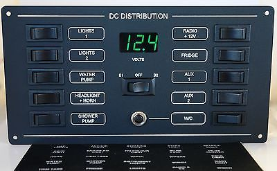 10 Way Circuit Breaker DC Switch Panel with Digital