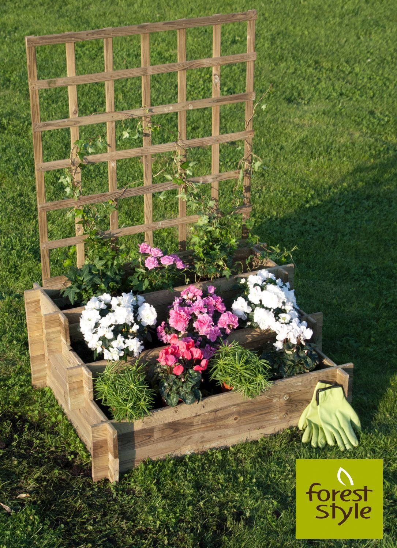 Carr potager treillis jardinerie jardiland treillis et tuteurs pinterest carr for Carre de jardin pas cher