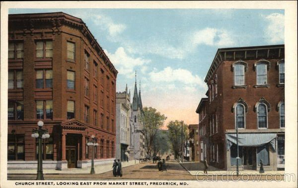 Church Street, Looking East from Market Street Frederick, MD ...