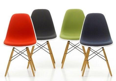Vitra Eames Plastic Side Chair DSW Stoel Heeft Een Organisch Gevormde  Zitschaal. Dit DSW Model