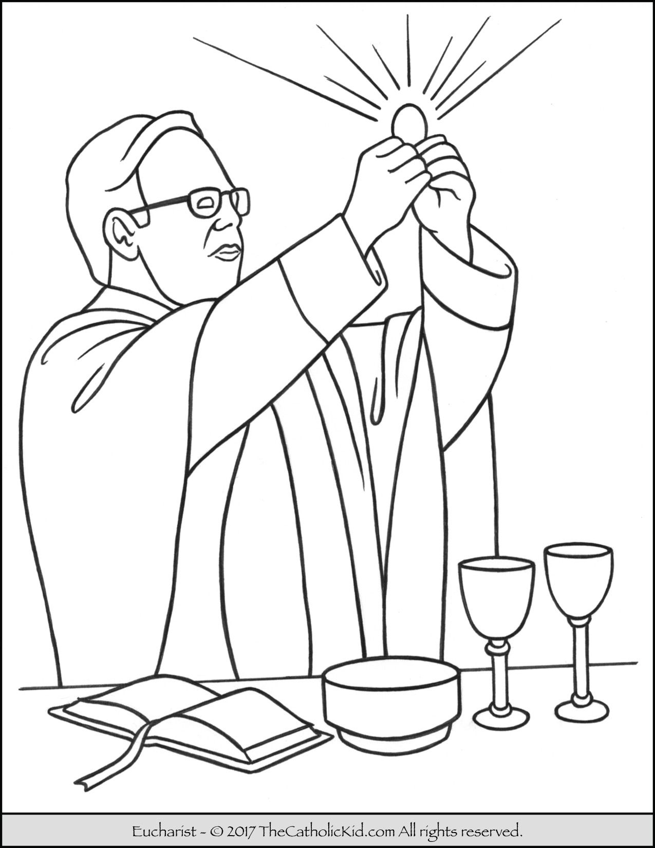Sacrament Holy Communion Eucharist Coloring Page The 7