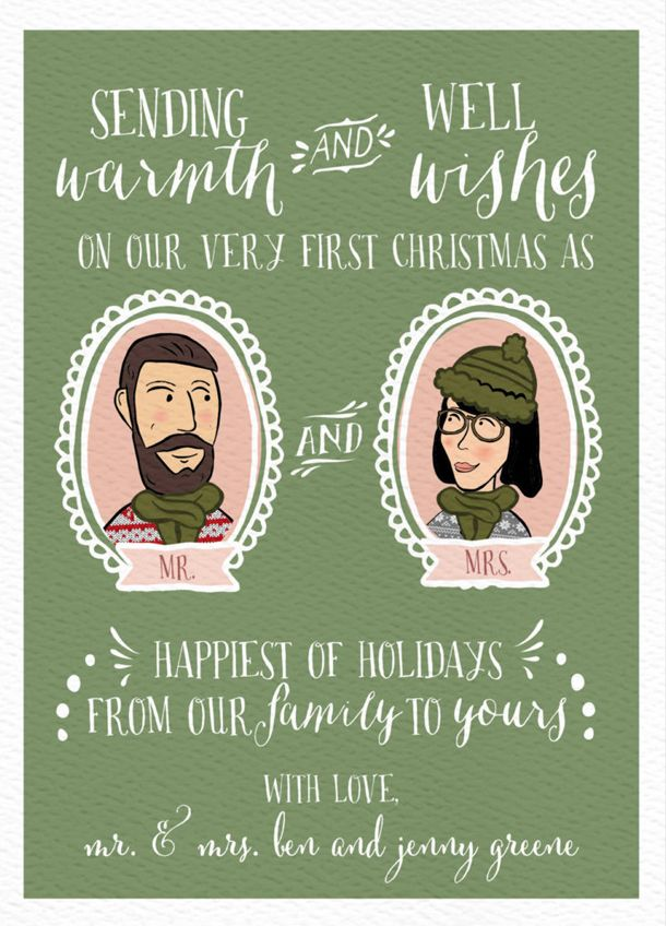 20 Christmas Cards for Newlyweds | Christmas Joys | Pinterest ...