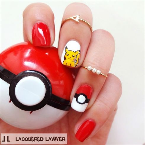 Pikachu Nail Art By Lacquered Lawyer On Nail Art Gallery Pop