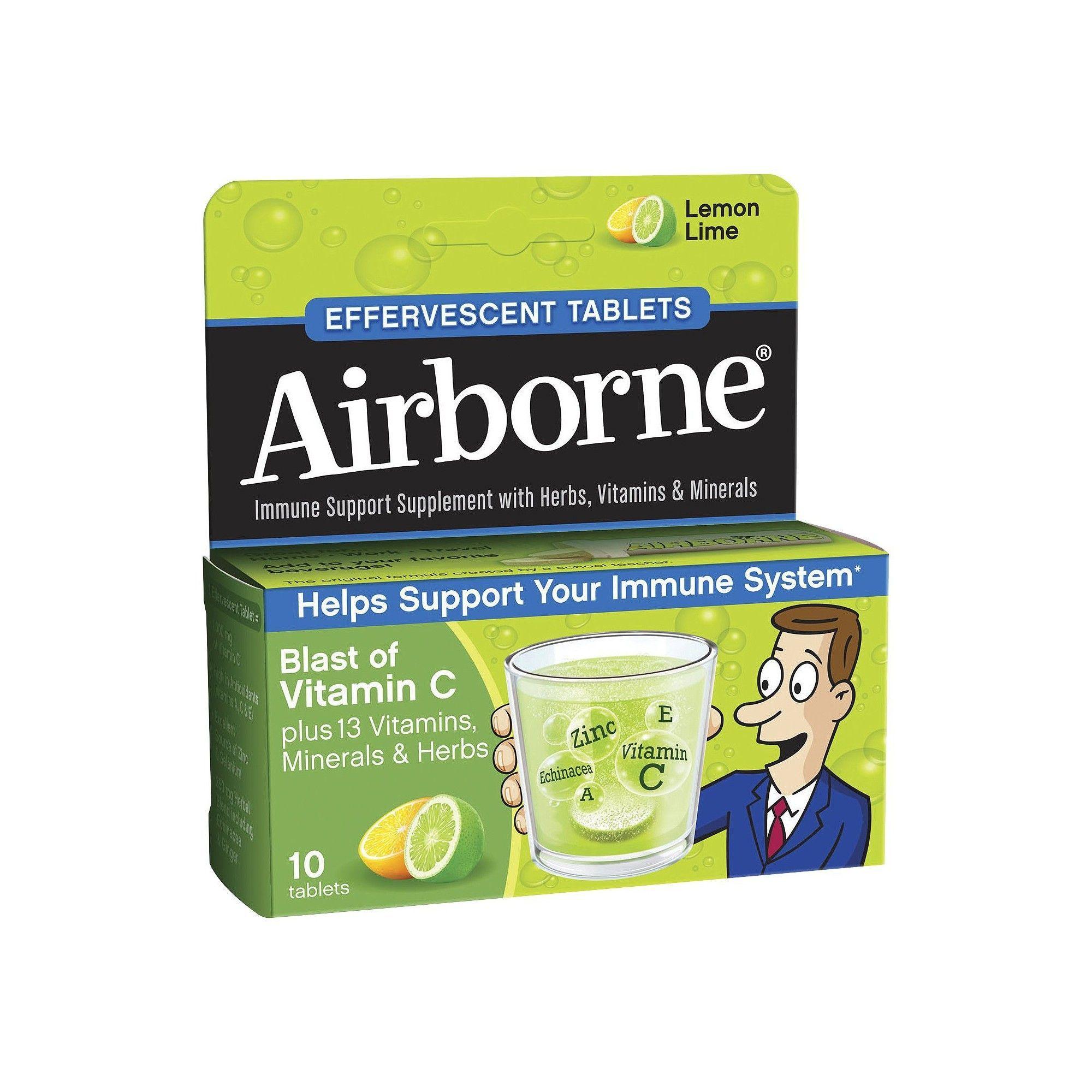 Airborne Effervescent Immune Support Supplement with