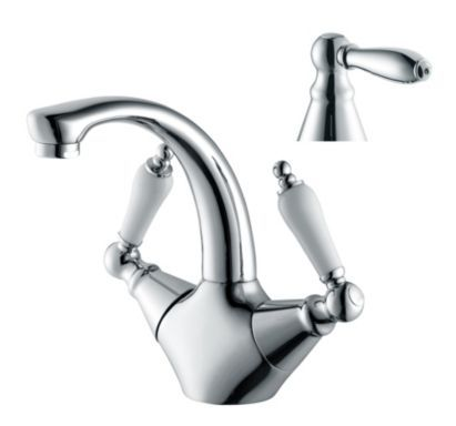 Cooke & Lewis Timeless Combined Basin Mixer Chrome Effect ...