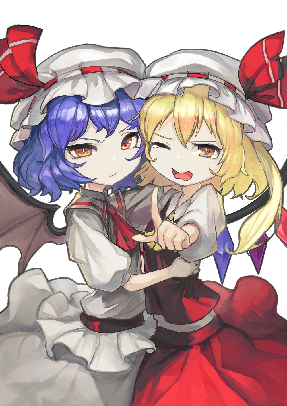 touhou project flandre scarlet remilia scarlet スカーレット姉妹 pixiv 東方 キャラ イラスト スカーレット