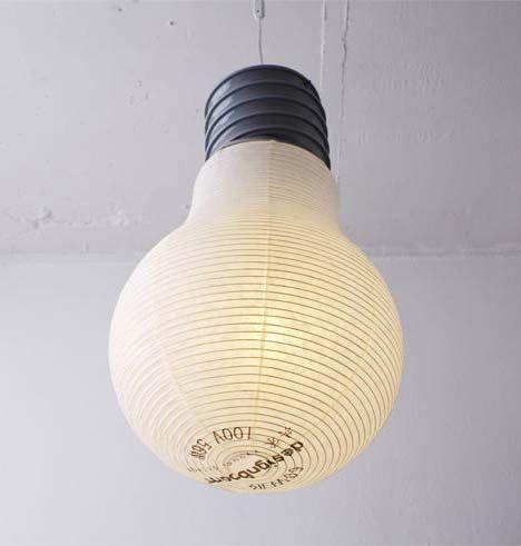 Giant Paper Lantern Light Bulb