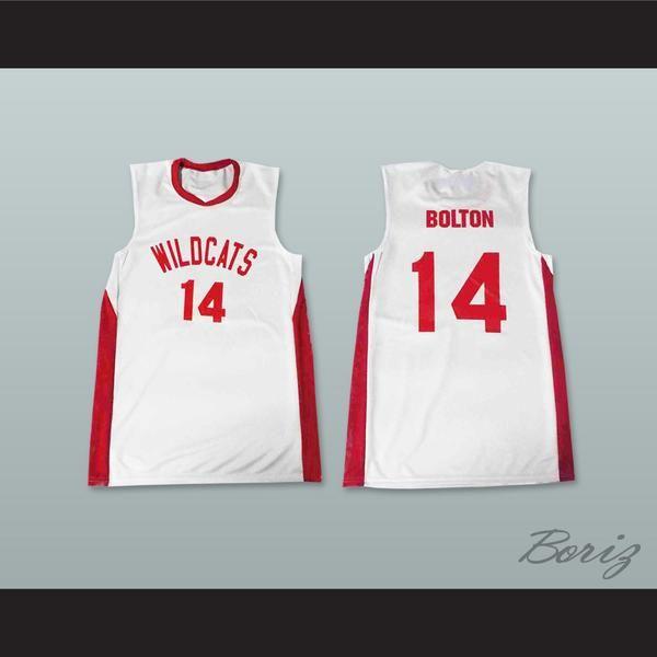 Zac Efron Troy Bolton 14 East High School Wildcats White Basketball Jersey  - borizcustom - 3 bac8e7f04