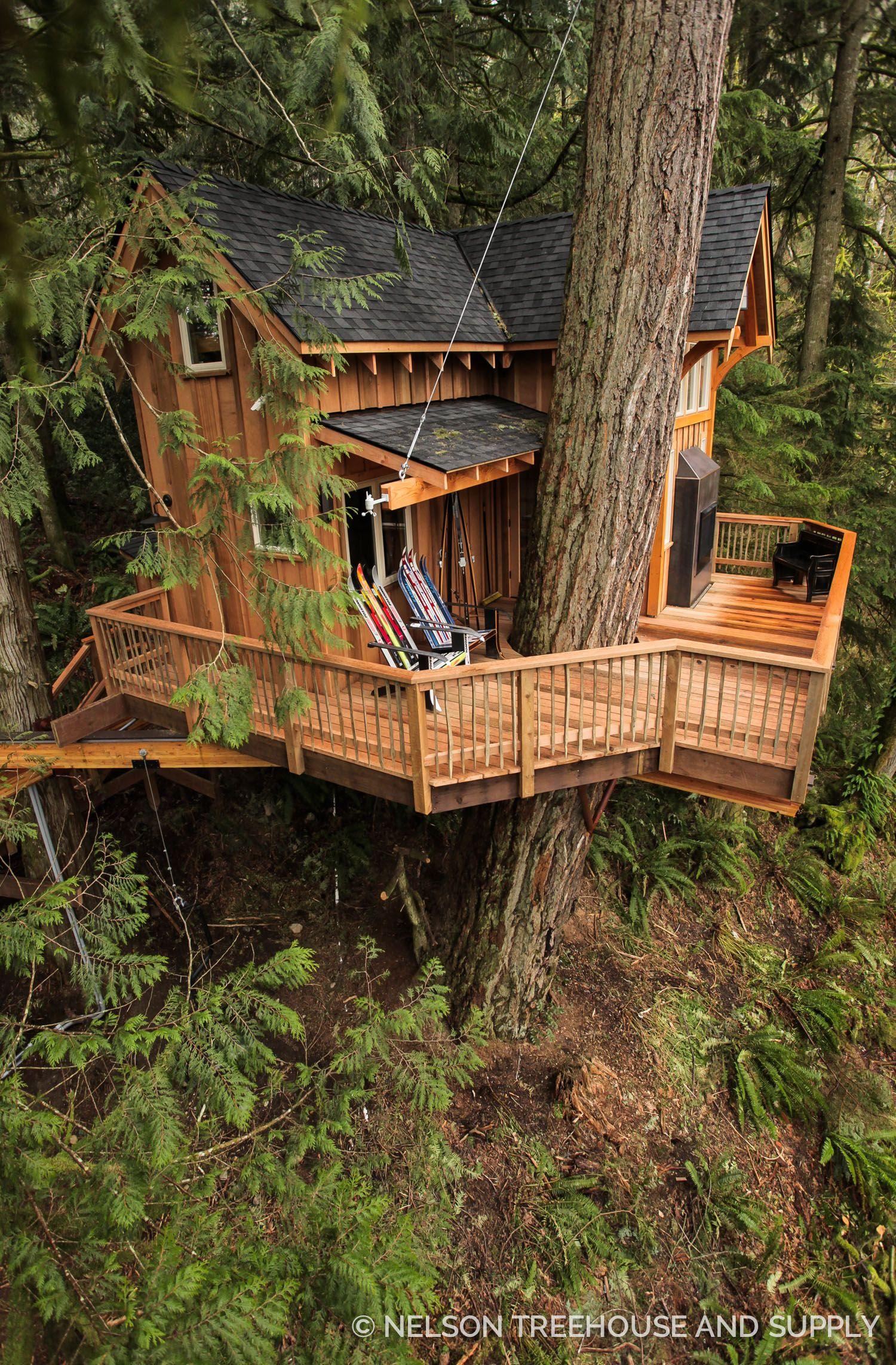 Ski Lodge Treehouse in Western Washington by Nelson Treehouse ...