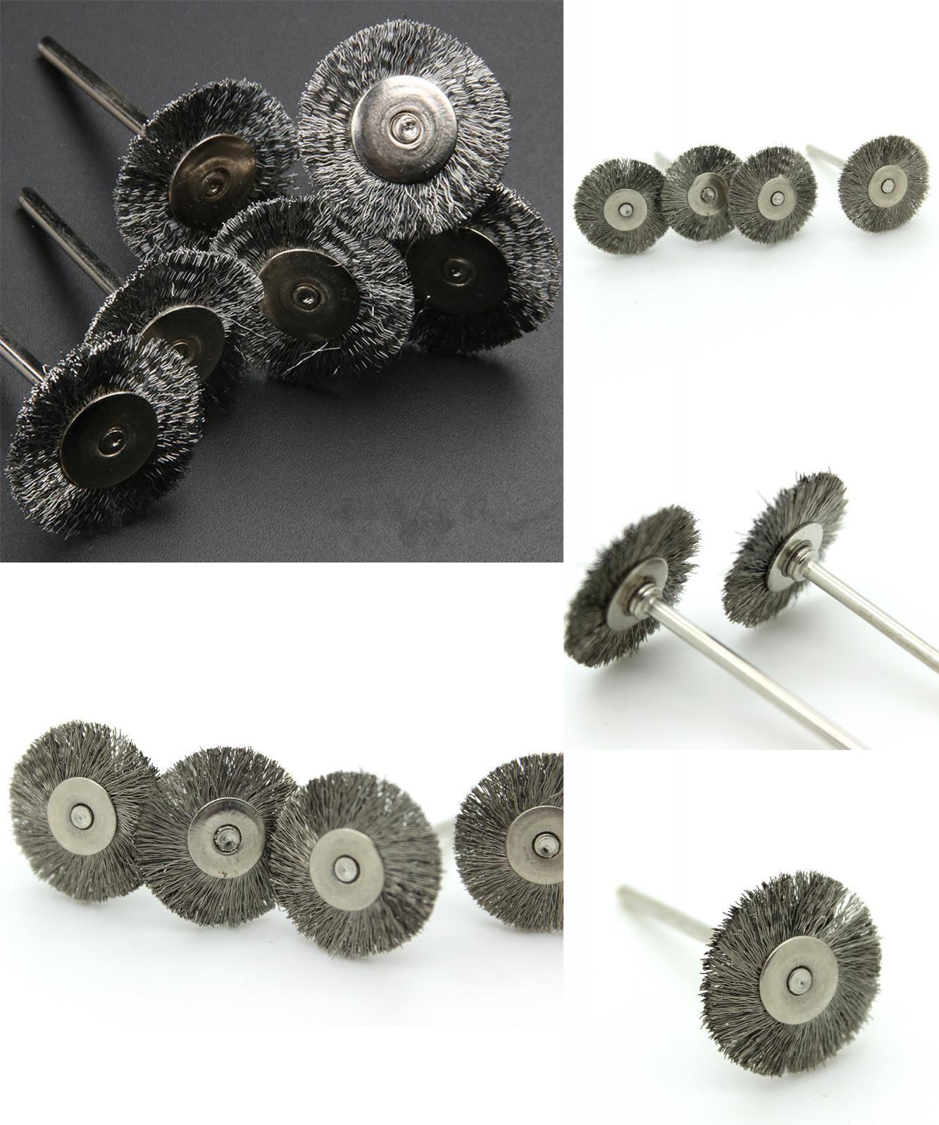 Visit to Buy] 5pcs Dremel Accessories 25mm Polishing Brush Wire ...