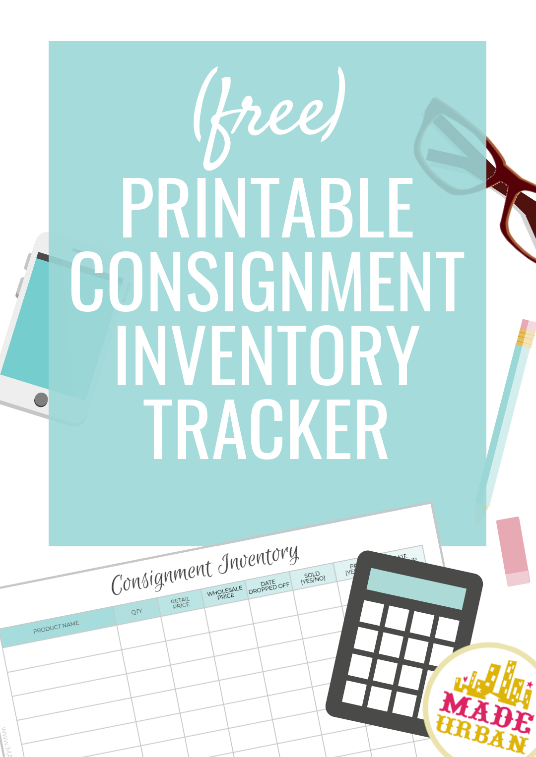 consignment inventory tracking spreadsheet organization