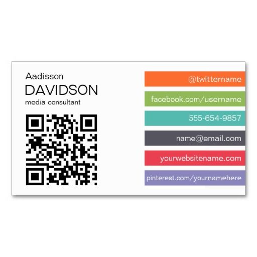 Bright bar qr code social media business card cards business bright bar qr code social media business card accmission Choice Image