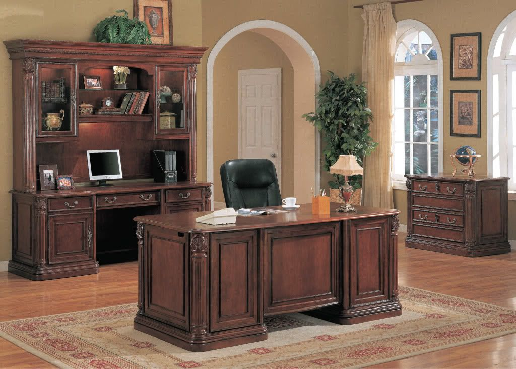 executive desk cherry solid wood office furniture new | executive