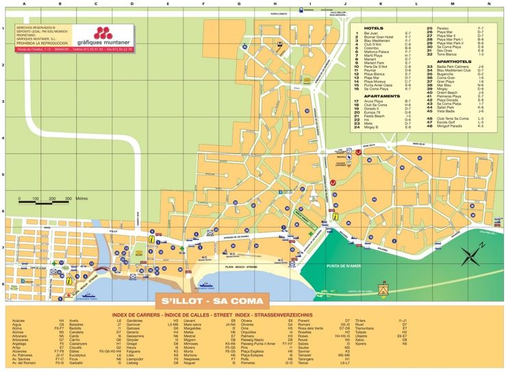 Sa Coma hotel map Maps Pinterest Majorca and Spain