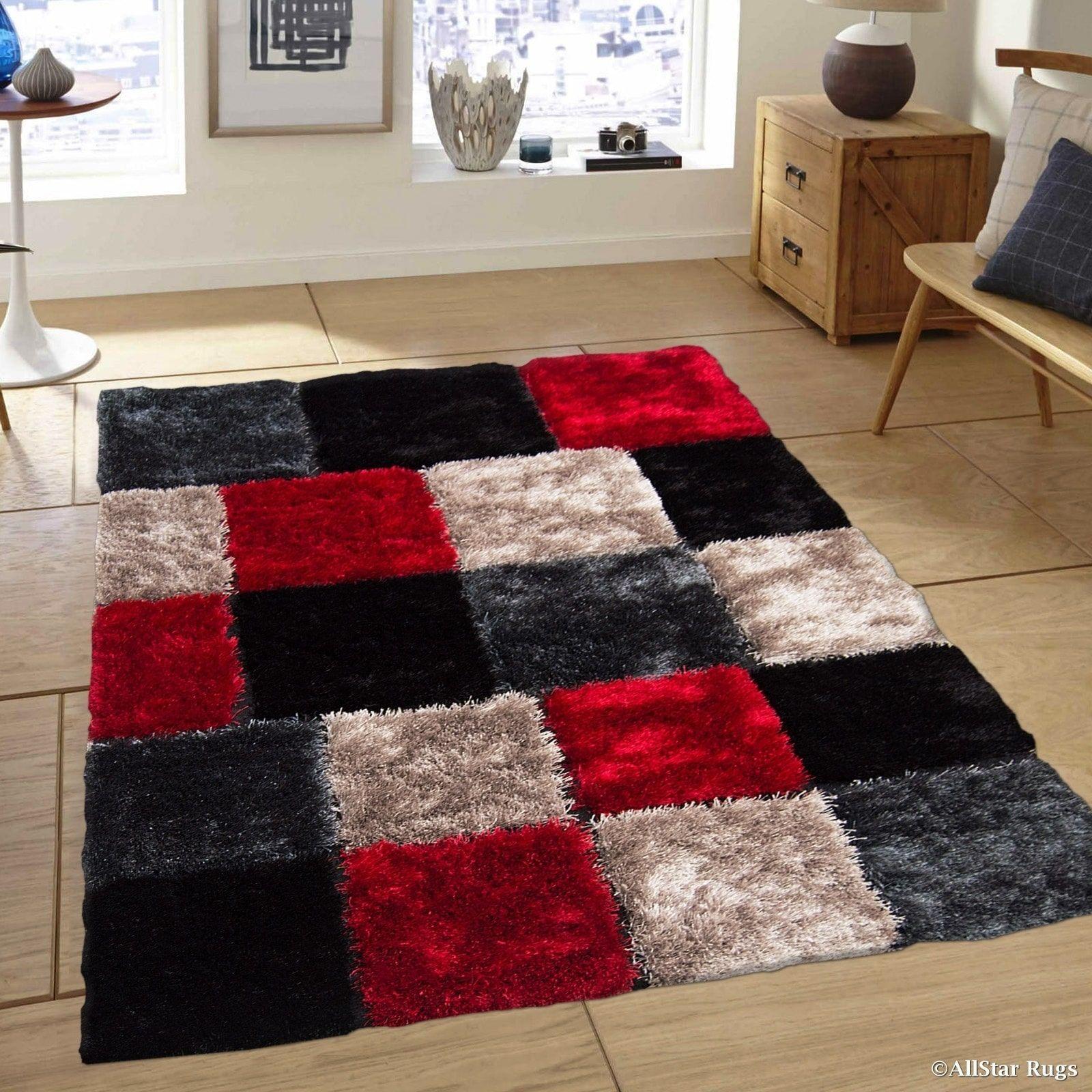 Cotton Lattice Area Rug Carpet Indoor Outdoor Rugs Woven Washable Rugs Buffalo Lattice Rug Retro Doormat Kitchen Mat White Rug In 2020 Red Living Room Decor Black Living Room Decor Living