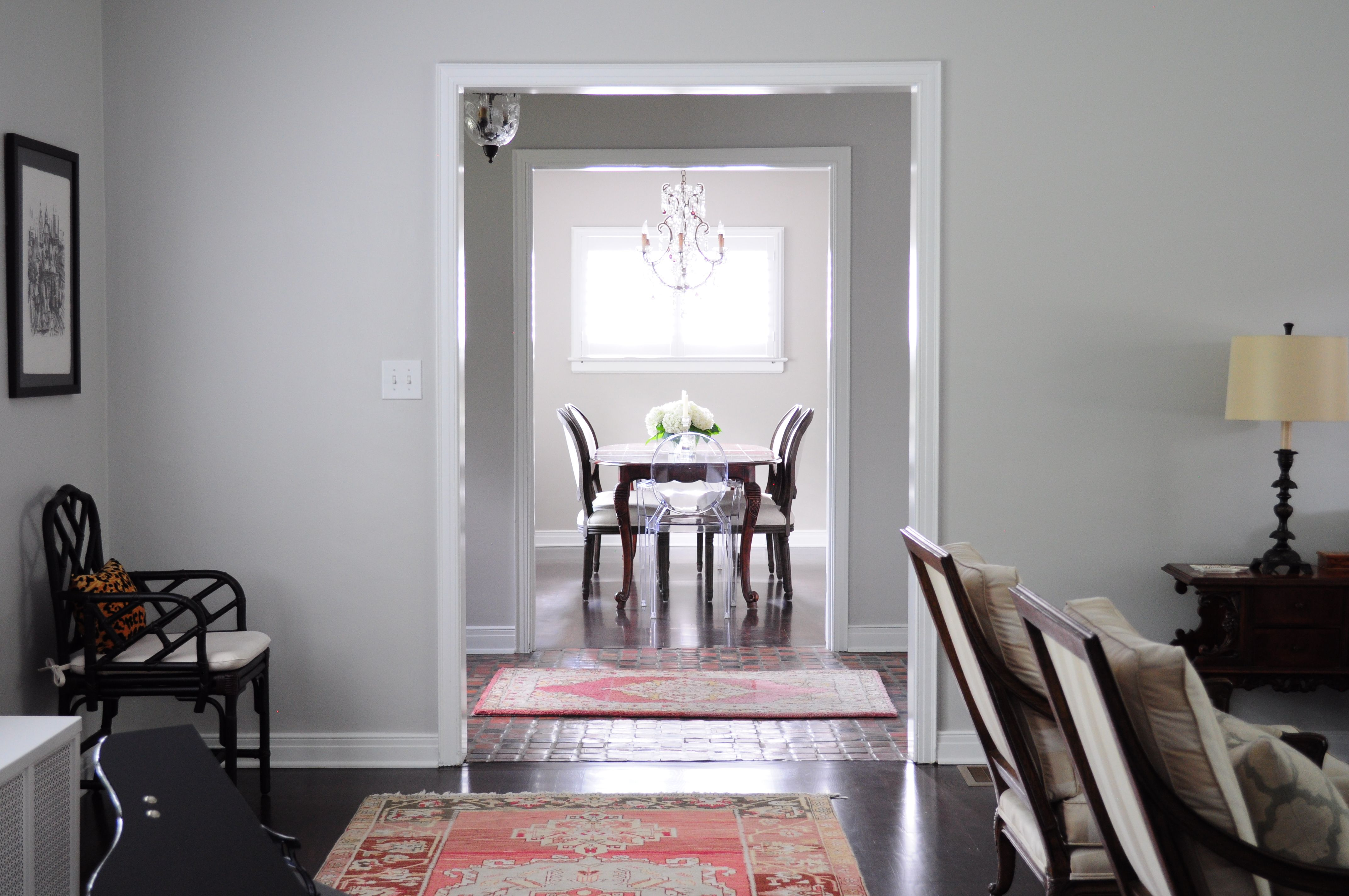 Veronica Bradley Interiors U2014 Transitional Living Room And Polished Neutral  Dining Room