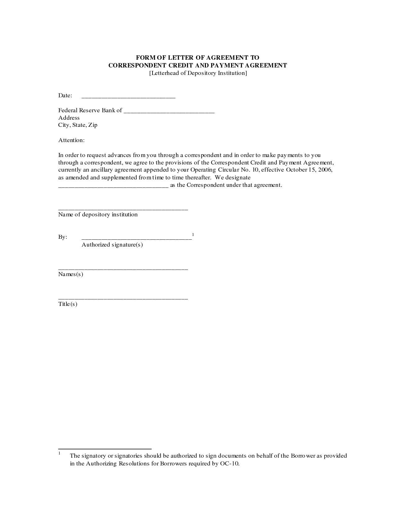 Payment Agreement Form Template  Besttemplates  Best