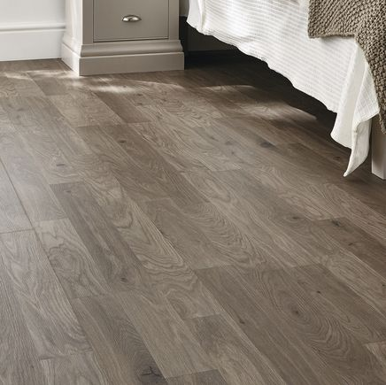 Professional Dark Grey Oak Laminate Flooring