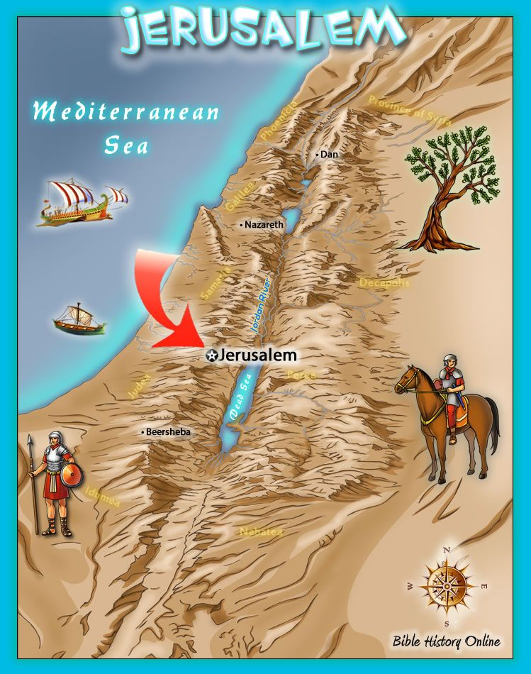 Map Of The City Of Jerusalem Bible Class Pinterest Jerusalem - Jerusalem map world