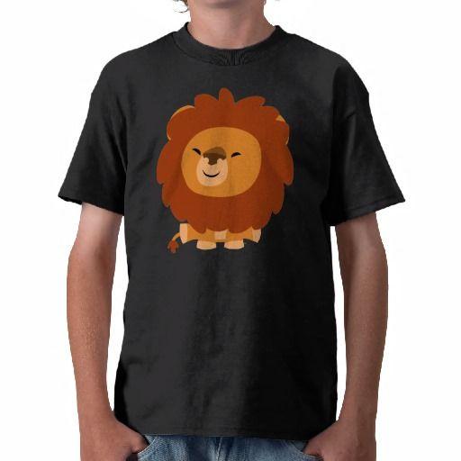Cute Cuddly Cartoon Lion Children T-Shirt by Cheerful Madness!! at Zazzle #zazzle #lion #cartoon #cute #kawaii #tshirts #children #CheerfulMadness