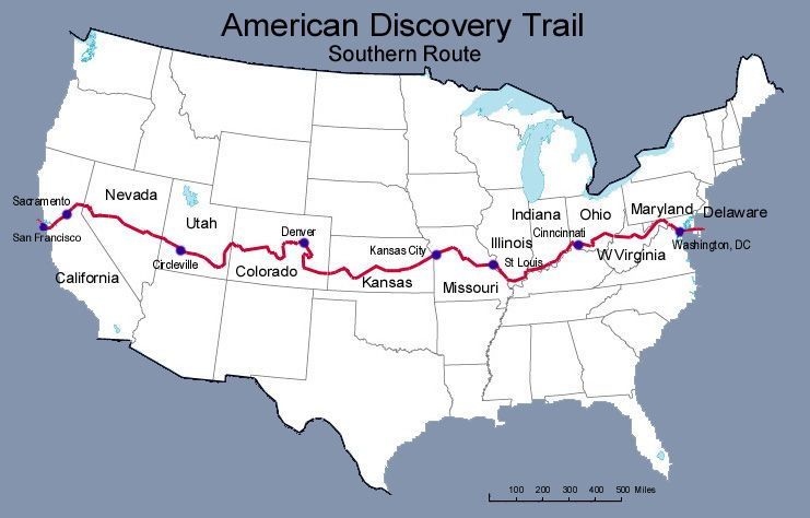 The American Discovery Trail (walking from coast to coast). | hiking ...