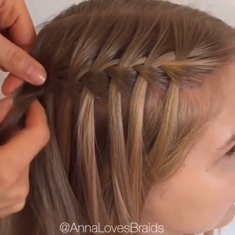 Waterfall Braid 😍❤️😍❤️💕 #best #amazing